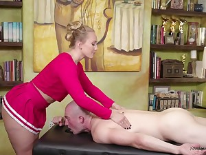 Amazing bootyful masseuse AJ Applegate is eager with ride fat long cock