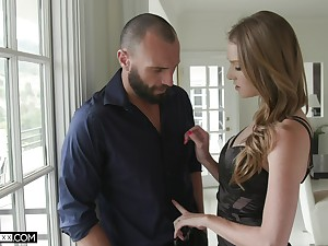 Sexy Ashley Excursion blowing a stranger's cock before and after hard sex