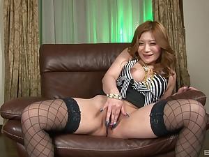 Japan solo masturbation XXX cam play with a busty slut