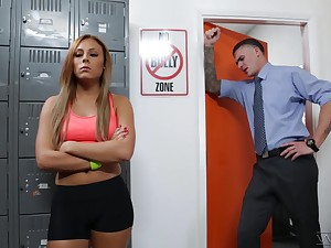 Red haired student Gianna Nicole is fucked by hot coach in his office