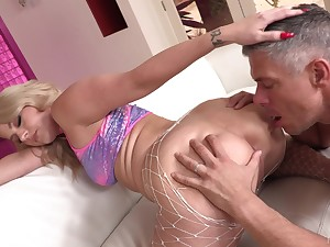 Cheating wife Lisey Attractive spreads her legs for deep anal poking
