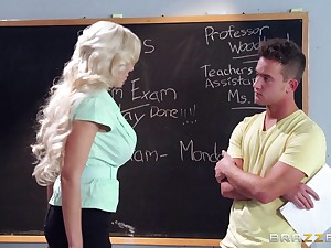 Beauteous academy teacher Nina Elle loves having coition with her student