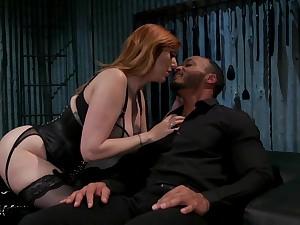 Duteous dude is fucked by hot dominatrix with huge tits Lauren Phillips