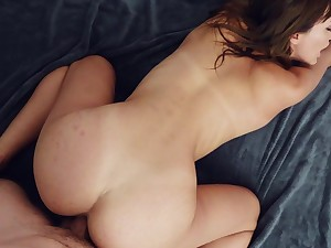 Captivating gal Ana In top form loves POV tea break more than most