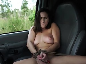 French filly bondage and brawny dildo domination This new