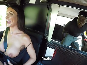 Funereal timber fucks hammer away busty taxi scullion and cums on her soul