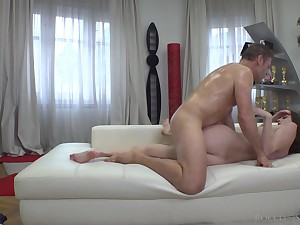 Teenie sure loves jumping in the first place Rocco's big dick