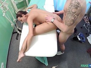 Hidden cam shows skinny babe working dick like a pro